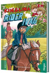 Kim och Lina rider iväg