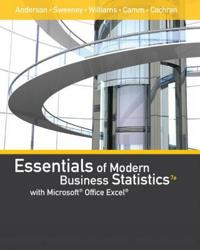 Essentials of Modern Business Statistics With Microsoft Excel With Xlstat Education Edition Printed Access Card