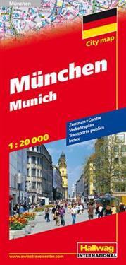 Hallwag Munchen / Munich Road Map
