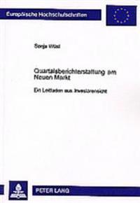Quartalsberichterstattung Am Neuen Markt