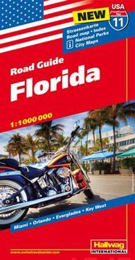 USA Florida kara nr 11 Hallwag : 1:1milj