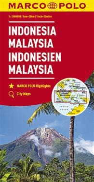 MARCO POLO Kontinentalkarte Indonesien, Malaysia 1:2 000 000