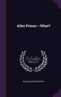 After Prison --What?