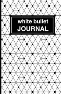White Patterned Bullet Journal: Soft Cover, 5.5 X 8.5 Inch, 200 Pages
