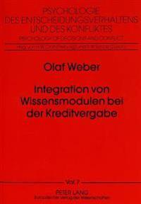 Integration Von Wissensmodulen Bei Der Kreditvergabe