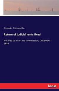 Return of Judicial Rents Fixed