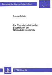 Zur Theorie Individueller Substanzen Bei Geraud de Cordemoy