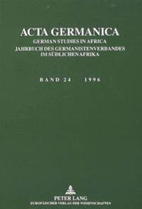 ACTA Germanica: German Studies in Africa
