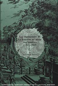 Les Successeurs De La Fontaine Au Siecle Des Lumieres 1715-1815