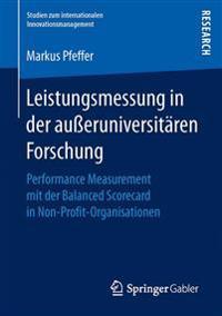 Leistungsmessung in Der Ausseruniversitären Forschung