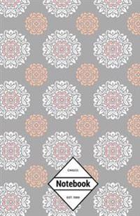 GM&Co: Notebook Journal Dot-Grid, Lined, Graph, 120 Pages 5.5x8.5 (Pastel Grey Mandalas)