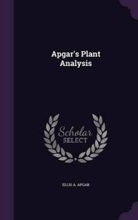 Apgar's Plant Analysis