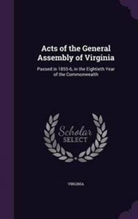 Acts of the General Assembly of Virginia