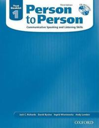 Person to Person, Third Edition Level 1: Test Booklet (with Audio CD)