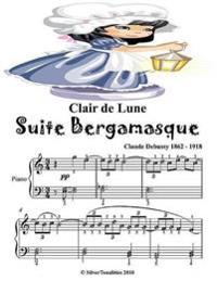 Clair De Lune Suite Bergamasque - Easy Elementary Piano Sheet Music Junior Edition