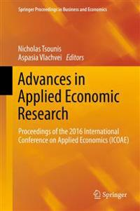 Advances in Applied Economic Research