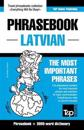 English-Latvian Phrasebook & 3000-Word Topical Vocabulary