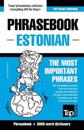 English-Estonian Phrasebook & 3000-Word Topical Vocabulary