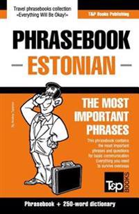 English-Estonian Phrasebook & 250-Word Mini Dictionary