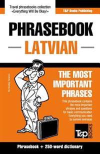 English-Latvian Phrasebook & 250-Word Mini Dictionary