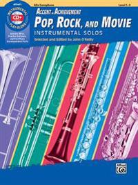 Aoa Pop, Rock, and Movie Instrumental Solos: Alto Saxophone, Book & CD