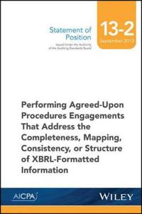SOP 13-2 Performing Agreed-Upon Procedures Engagements -XBRL-Formatted Information