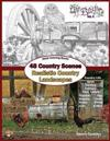 Adult Coloring Books: 48 Country Scenes Realistic Country Landscapes: Relaxing in Country Life: Enjoy Coloring Barns, Gardens, Cottages, Far
