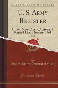 U. S. Army Register, Vol. 1