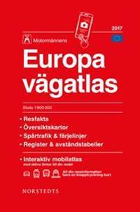 Europa vägatlas 2017 Motormännen : Skala 1:800000