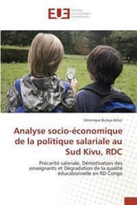 Analyse socio-économique de la politique salariale au Sud Kivu, RDC