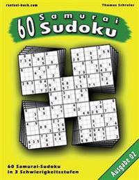 60 Samurai-Sudoku, Ausgabe 02: 60 Gemischte Samurai-Sudoku, Ausgabe 02