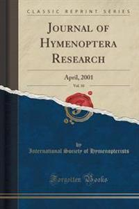 Journal of Hymenoptera Research, Vol. 10