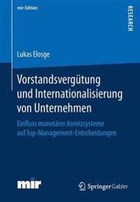 Vorstandsverg tung Und Internationalisierung Von Unternehmen