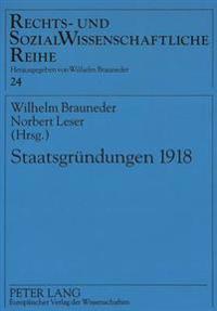 Staatsgruendungen 1918