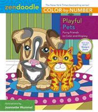 Zendoodle Color-By-Number: Playful Pets: Furry Friends to Color and Display