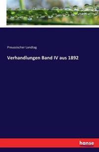 Verhandlungen Band IV Aus 1892