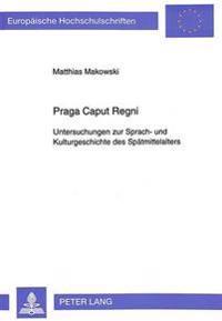Praga Caput Regni: Untersuchungen Zur Sprach- Und Kulturgeschichte Des Spaetmittelalters