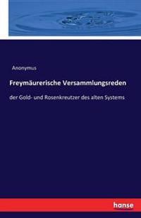 Freymaurerische Versammlungsreden
