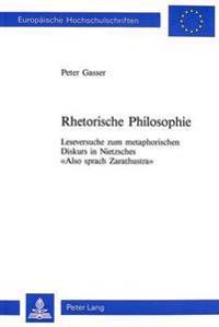 Rhetorische Philosophie - Peter Gasser - böcker (9783906750422)     Bokhandel