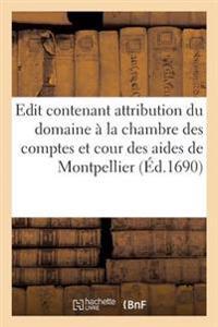Edit Contenant Attribution Du Domaine � La Chambre Des Comptes Et Cour Des Aides de Montpellier