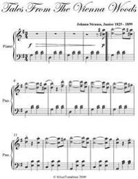 Tales from the Vienna Woods Intermediate Piano Sheet Music
