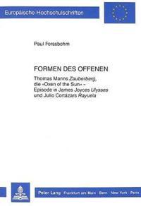 Formen Des Offenen: Thomas Manns Zauberberg, Die -Oxen of the Sun- - Episode in James Joyces Ulysses Und Julio Cortazars Rayuela