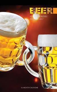 Beer Pocket Monthly Planner 2017: 16 Month Calendar
