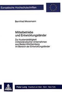 Mittelbetriebe Und Entwicklungslaender: Zur Auslandstaetigkeit Mittelstaendischer Unternehmen Aus Baden-Wuerttemberg Im Bereich Der Entwicklungslaende