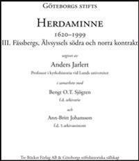 Göteborgs Stifts Herdaminne III
