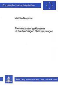 Preisanpassungsklauseln in Kaufvertraegen Ueber Neuwagen