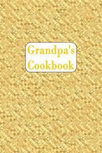 Grandpa's Cookbook: Blank Cookbook