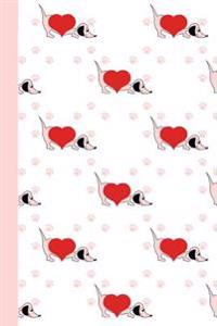 Journal: Puppy Love (Diary, Notebook) 6x9