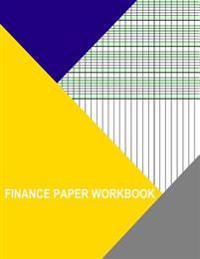 Finance Paper Workbook: 4 Columns Landscape