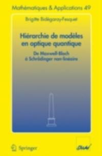 Hierarchie de modeles en optique quantique